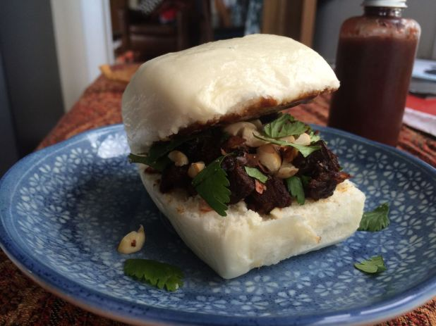 Taiwanese-style gua bao has the nickname 'tiger bites pig'